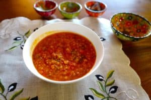 Red Lentil Soup with Red Bell Peppers and Caramelized Tomatoes by Foodjoya