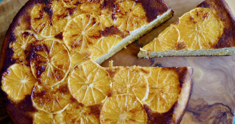 Almond orange cake paleo, with macadamias by foodjoya