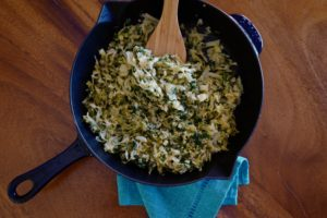 sautéed cabbage and leeks by foodjoya