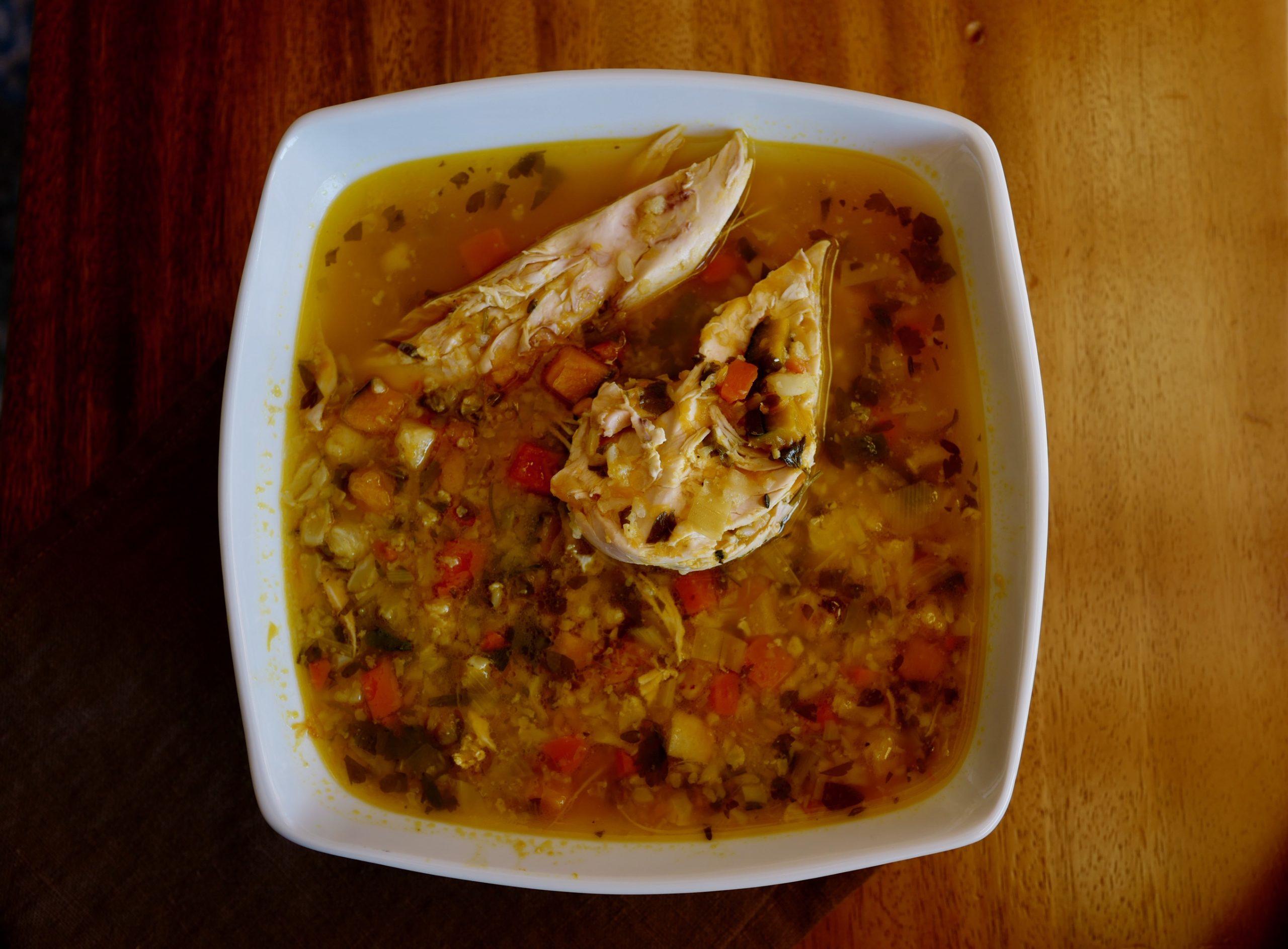 chicken pumpkin soup grain-free by foodjoya